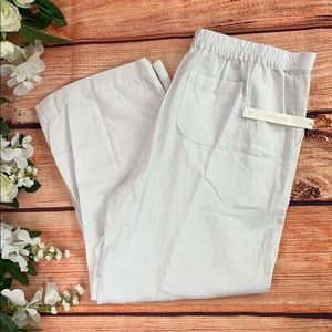 🆕 Cason White Linen Pants with Pockets NWT